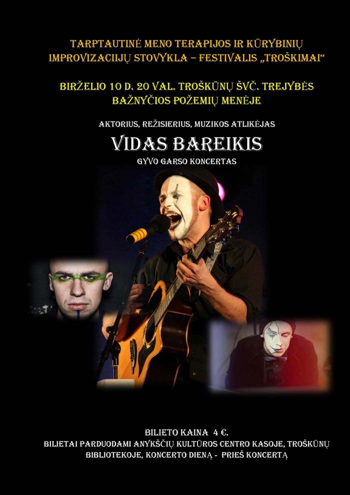 Vido Bareikio koncerto afiša.