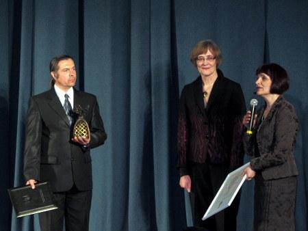 """Aukso paukštė"" – laureato rankose."