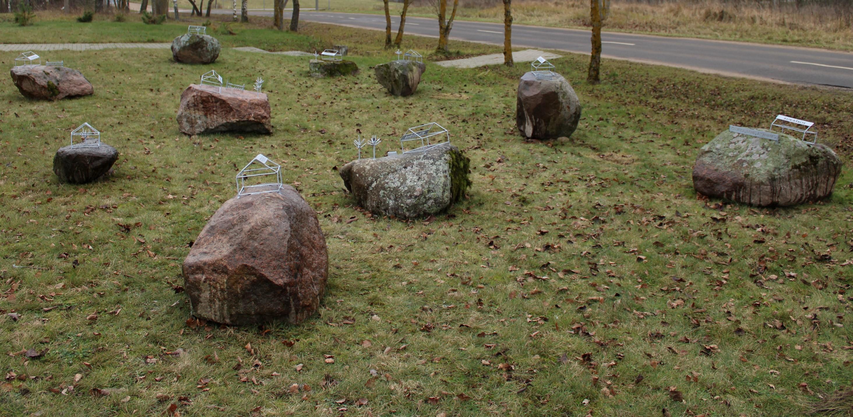 Išnykusių kaimų atminties parkas Mačionyse.