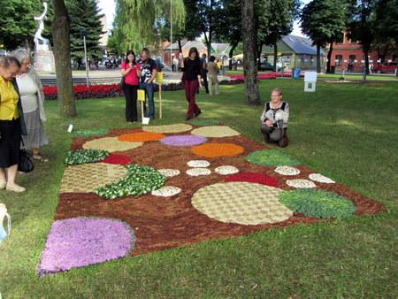 Gražiausias - Elmininkų kaimo bendruomenės ištiestas floristinis kilimas.