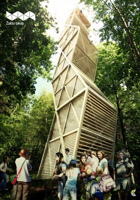 """""""Žalčio tako"""" projektinė idėja: apžvalgos bokštas"""