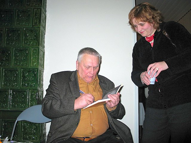 Algimanto Baltakio autografas mokytojai Dangirai Nefienei