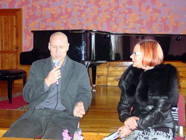 Sigitas Parulskis ir Onutė Jakimavičienė