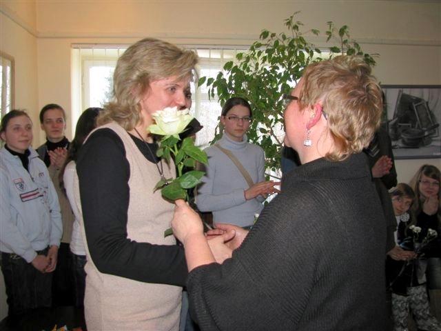 Gėlės mokytojai S. Keibienei