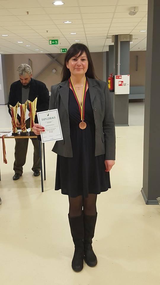 """""""Žalgiriados"""" bronzos medalininkė Skaivė Meškauskienė."""