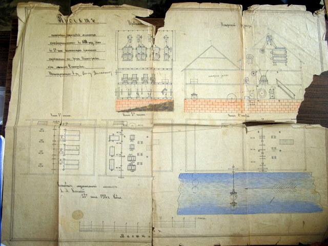 Anykščių malūno planas. 1912 m.