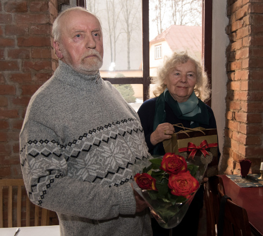 Jubiliejaus svečiai Vygandas Račkaitis ir Milda Telksnytė.