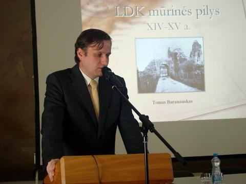 Pranešėjas - G. Zabielos išugdytas istorikas T. Baranauskas