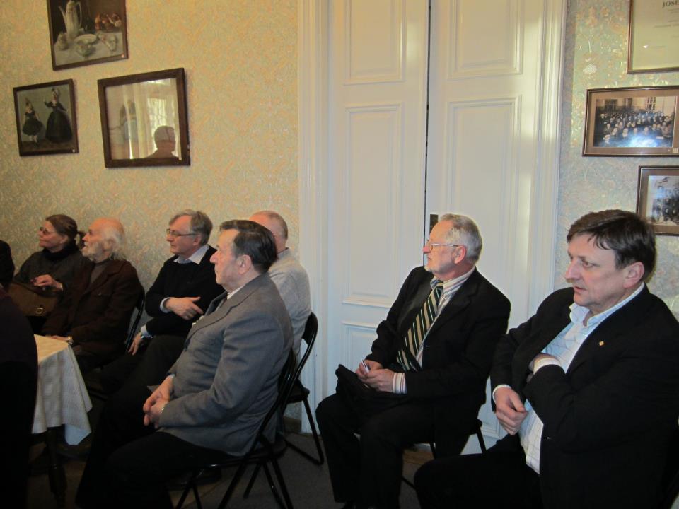 Kauno anykštėnai Tomas Ladiga, Osvaldas Janonis ir kiti steigiamajame draugijos susirinkime