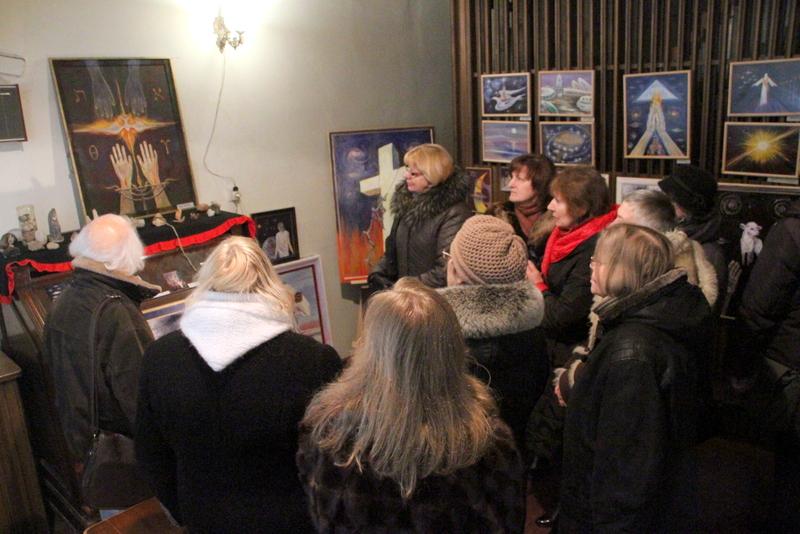 V. Juciūnaitės tapybos paroda bažnyčioje.