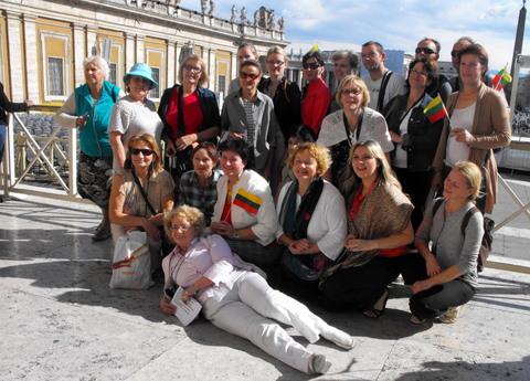Mūsų keliautojai Vatikane