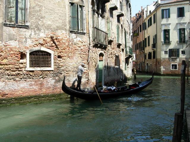 Gondolų miestas Venecija