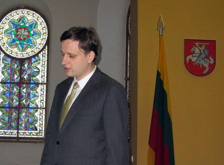 Tomas Baranauskas Anykščių koplyčioje.