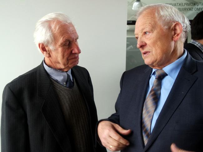 Bendrauja kraštotyrininkai-energetikai Jonas Sriubas ir Alvydas Bitinas.