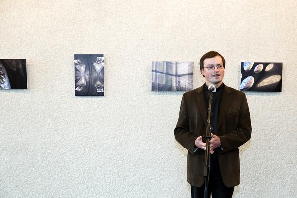 Nerijus Papirtis ir jo paroda Zarasų kultūros centre.