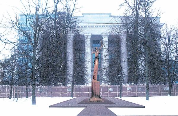 """Taip J. K. Patamsio """"Žinia"""" galėtų stovėti priešais Nacionalinę M. M. biblioteką"""