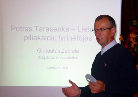 Pranešėjas Gintautas Zabiela. Antano Verbicko nuotrauka