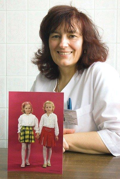Gydytoja N. Januškienė dvynių gyvenimo istoriją kaupia ir nuotraukose.