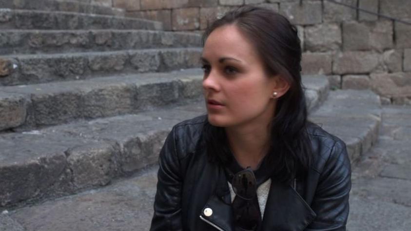 """Paulina Dūmanaitė. Laidos """"Emigrantai"""" stopkadras."""