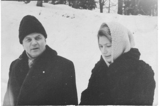 Juozas Baltušis su dukterimi Rita 1961 m. Asmeninio albumo nuotr.