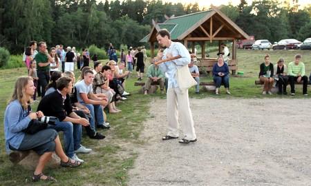 Naktigonės dalyviams žinių apie arklius atnešė Arklio muziejaus vedėjas Mindaugas Karčemarskas.
