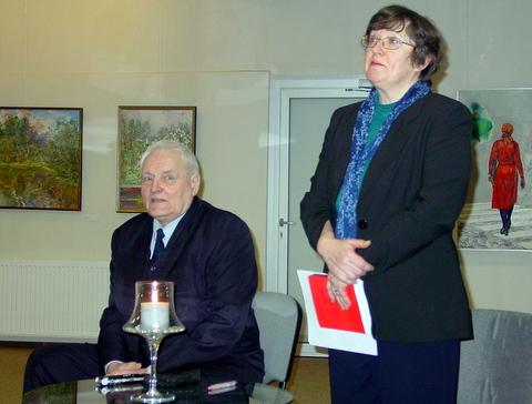 Kompozitorius Feliksas Bajoras ir muzikologė Rūta Gaidamavičiūtė