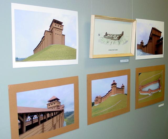 Parodos eksponatai - projektuotojų vaizduotėje gimusios pilys