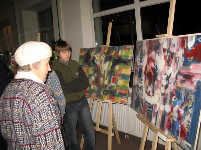 A. Galdiko abstrakcijos eksponuojamos Anykščių sakralinio meno centre