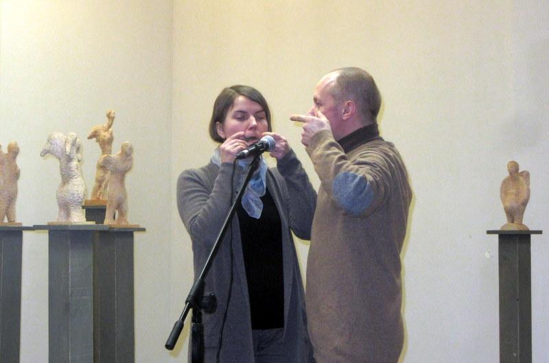 Dambreliais groja Kristina Darulienė ir Egidijus Darulis.