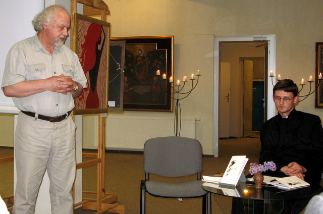 Rimanto Vanago, irgi startavusio su poezijos rinkiniu, žodis pradedančiajam poetui kunigui Justui