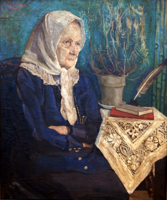 J. Šileikos iš natūros tapytas rašytojos Žemaitės portretas