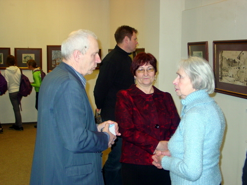 Parodoje - anykštėnai pedagogai Balys Meldaikis, Vida Dičiūnaitė ir Sofija Pakalnienė.