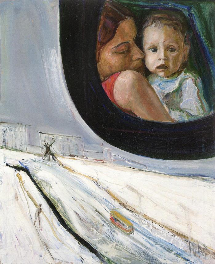 """Arvydas Šaltenis. """"Skaidrė"""". 1976, kartonas, aliejus,104 x 84 cm, LDM"""