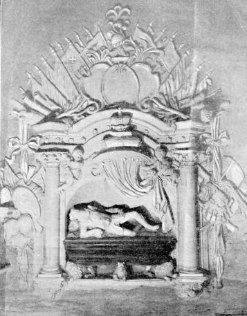 Vienas iš išlikusių K. Ostrogiškio antkapinio paminklo atvaizdų.