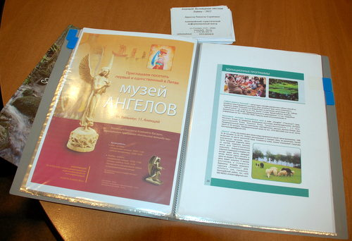 Informacija apie Anykščius ukrainiečiams. Rūtos Malikėnaitės nuotrauka.
