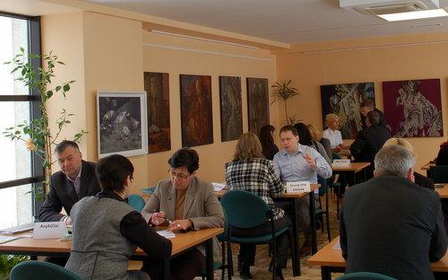 Kontaktų mugė Lietuvos Respublikos ambasadoje Kijeve. Rūtos Malikėnaitės nuotrauka.