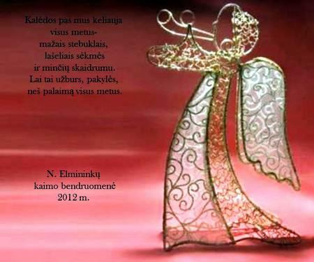 Naujųjų Elmininkų bendruomenės sveikinimas.