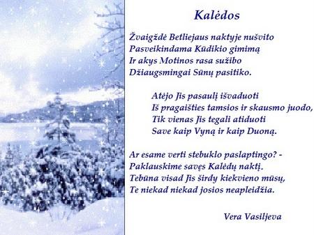 Kauno anykštėnės Veros Vasiljevos šventinis sveikinimas