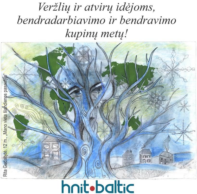 """Vilniaus anykštėno Artūro Paltaracko ir """"HNIT-BALTIC"""" sveikinimas."""