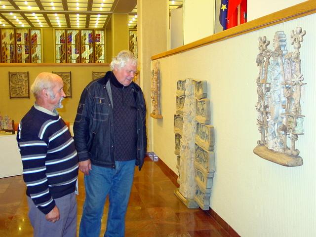 J. Tvardausko kūrybos parodoje - jo bendražygis medžio drožėjas Pranas Petronis ir Vilniaus anykštėnas Antanas Stackevičius