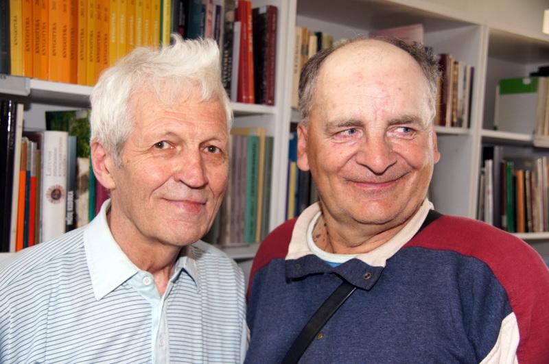 Kraštotyrininkai T. Uža ir R. Guobis.