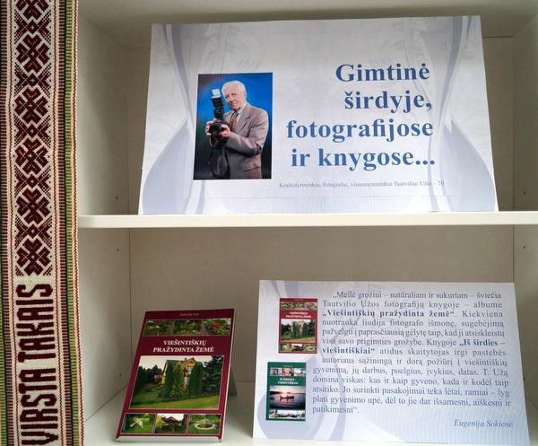 Tautvilio Užos paroda Anykščių bibliotekoje.