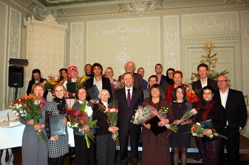 Iškilmių dalyviai Kultūros ministerijos Baltojoje salėje. Audronės Pajarskienės nuotrauka.