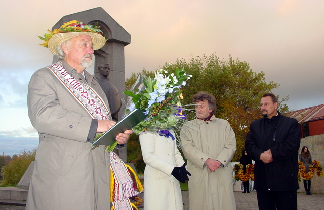 R. Vanagas – A. Baraanausko premijos laureatas. PAB archyvo nuotrauka.