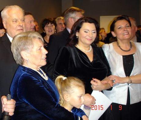 Jubiliejiniame koncerte tarp kitų artimųjų dalyvavo ir R. Juzukonytės mama, ir jos sesuo.