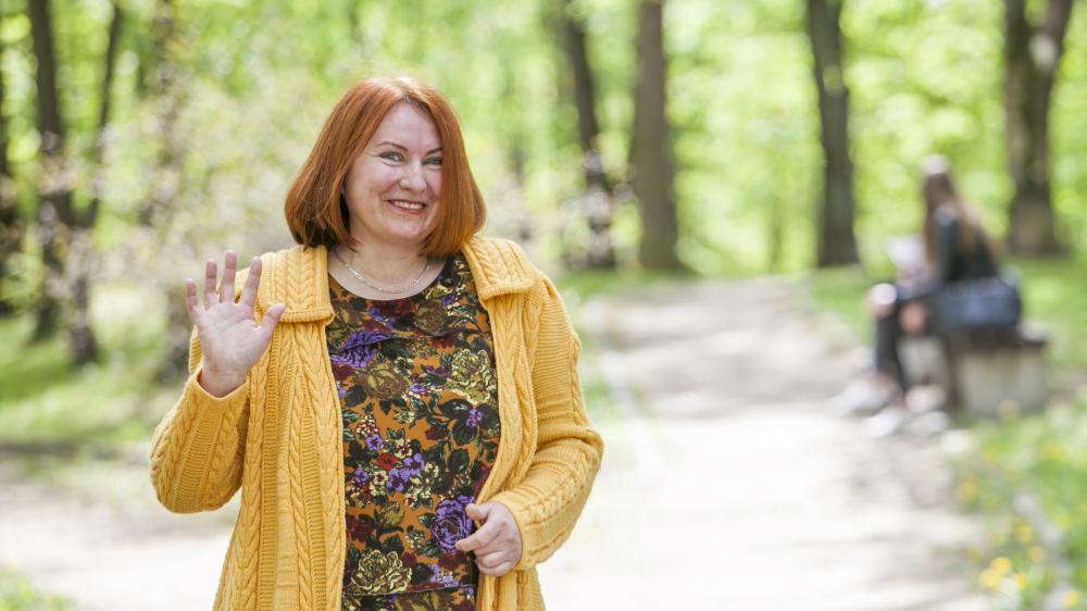 Vilniaus Anykštėnų Sambūrio pirmininkė Regina Smetonaitė. www.lzinios.lt nuotrauka.