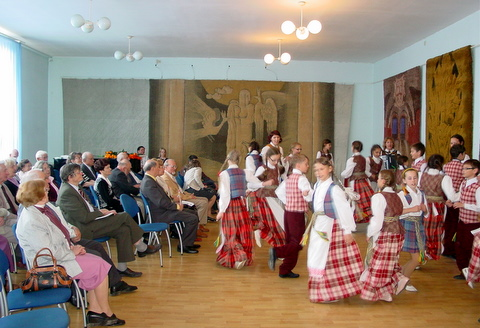 Jaunųjų anykštėnų koncertas Vilniaus anykštėnams.